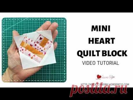 Mini Heart quilt block - 3 inch block