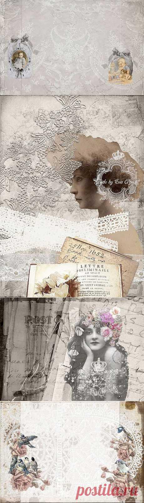 винтажные фоны и изображения от Eva Agnes Lundskog, Швеция.