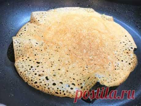 ЧУДО-БЛИНЫ без яиц и молока. Отскакивают от сковороды.КУЛИНАРНЫЙ ТРЮК. Crispy Crepes/