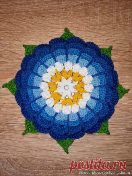 Мастер-класс : Большой вязаный цветок своими руками | Журнал Ярмарки Мастеров