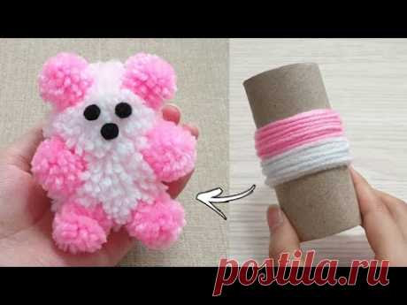 Amazing Teddy Bear Making with Wool - Super Easy Teddy Bear Make at Home - How to Make Teddy Bear