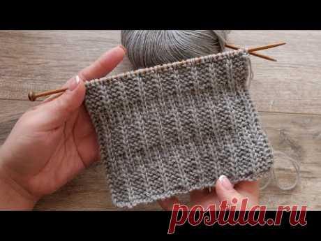 Узор для шарфа спицами 🦅 Knitted scarf pattern 🧣