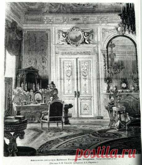 "Anichkov Palace Desk room of Maria Feodorovna... \/ Deirdre Cece was kept by Ping on a board of ""Russian Palaces\"". 
