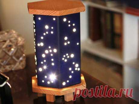 Luz mágica de la noche estrellada con madera, foamboard y luces de hadas: 9 pasos (con fotos)