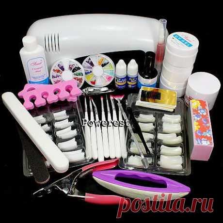 Цена: 1450руб Набор для наращивания ногтей+ УФ лампа