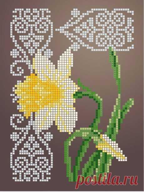 Схема для вышивки бисером Цветы «Зупа»™ «Нарцис» (A5) 15x18 (ЧВ-2338 (10)) Схемы вышивки бисером - это специальная ткань с рисунком для вышивания бисером. Схема для вышивания нанесена на ткань в виде цветных обозначений поверх изображения. В состав входят рисунок на ткани и инструкция по вышиванию. Бисер в состав не входит.