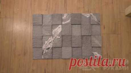 Как сделать красивый искусственный камень из гипса В данном обзоре мастер делится классной идеей, как в домашних условиях самостоятельно сделать красивый искусственный камень с необработанной поверхностью