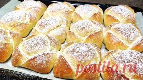 Готовлю ИХ уже несколько дней на ВСЕ праздники! ИДЕАЛЬНЫЕ булочки с творогом - ПЫШНЫЕ как пух!