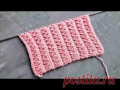 Красивейшая волнистая резинка спицами для вязания шапок, носков, жилеток - YouTube