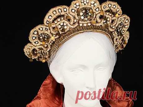 Вдохновение традиционным русским народным девичьим головным убором