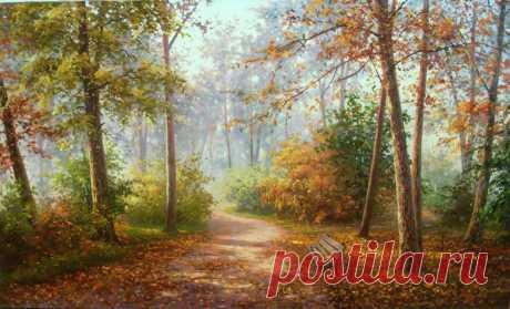 Осенние пейзажи современных художников