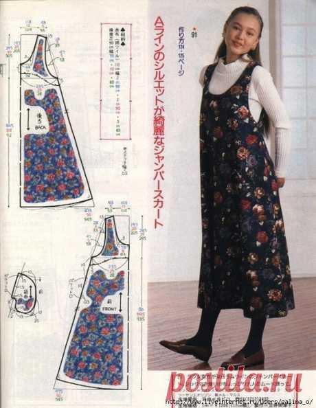Выкройка зимнего сарафана Модная одежда и дизайн интерьера своими руками