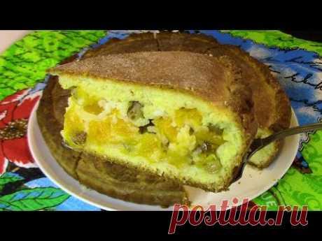 Пирог с тыквой - просто по-домашнему  ВКУСНО ! Как приготовить пирог в духовке .