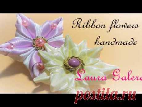 New Ribbon flowers  Flores de cintas  Flores de fitas