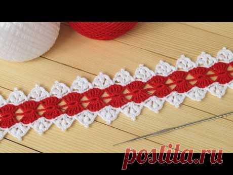 ЛЕНТОЧНОЕ КРУЖЕВО вязание крючком МАСТЕР-КЛАСС Ribbon Lace Crochet