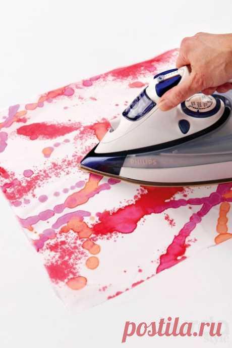Como pintar hermosamente la tela o la ropa por las manos