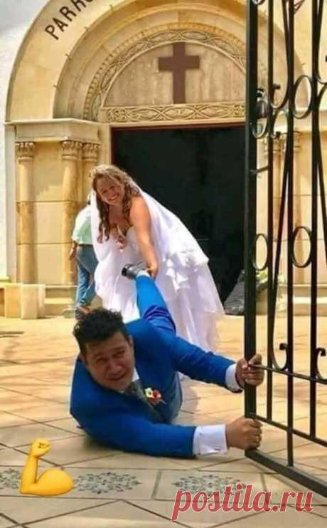 Лучшее свадебное фото, которое я когда либо видел))😁
