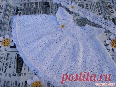 """Платье """"Ромашка"""" - Вязание для детей - Страна Мам"""