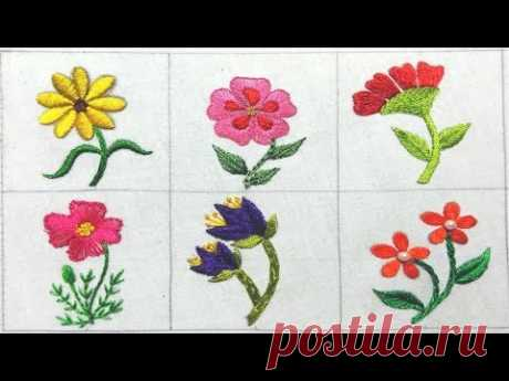 Hand Embroidery flower stitch, All over hand Embroidery, Easy Embroidery, हाथ की कढ़ाई,হাতের কাজ