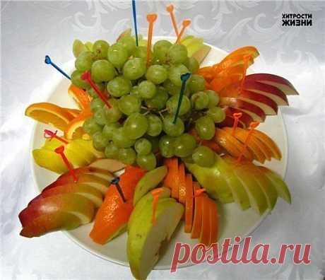 Подача фрукты