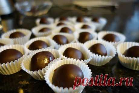 Домашние шоколадные конфеты с ликером Бейлис