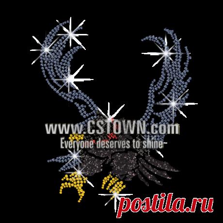 Shining Eagle Hotfix Rhinestone Transfer for Clothes - CSTOWN