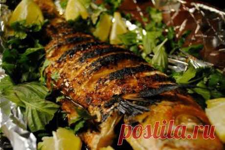 Рецепт ледяной рыбы с пряными травами в духовке