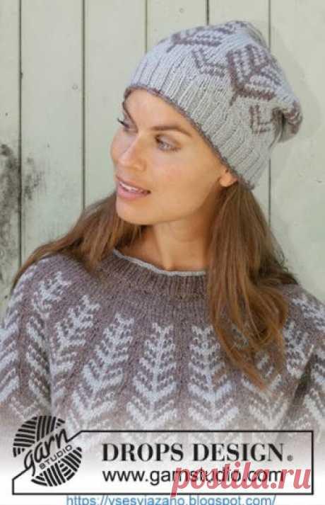 ВСЕ СВЯЗАНО. ROSOMAHA.: Красивый зимний cвитер и шапка Inner Circle от Drops.
