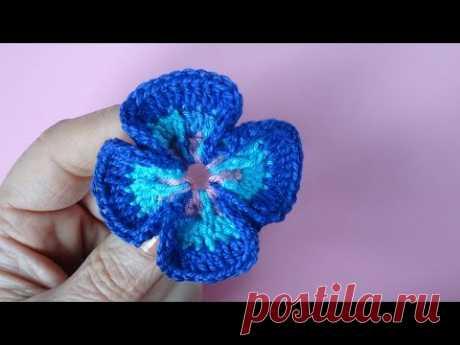 Crochet flower pattern Как вязать цветок Вязание крючком Урок 75