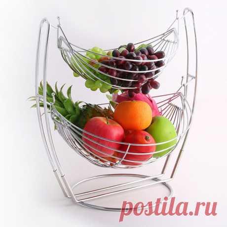 817.52руб. 25% СКИДКА|Двухуровневая съемная корзина для фруктов, Прочная Большая емкость, подставка для фруктов, подставка для тарелок, домашний декор|Блюдца и тарелки|   | АлиЭкспресс Покупай умнее, живи веселее! Aliexpress.com