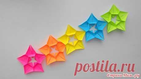 Оригами гирлянда из бумаги Как сделать гирлянду своими руками - Поделки - Страна Мам