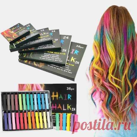 Disposable hair dye pen non-toxic hair dye crayon chalk girls kids party cosplay diy temporary styling tools Sale - Banggood.com