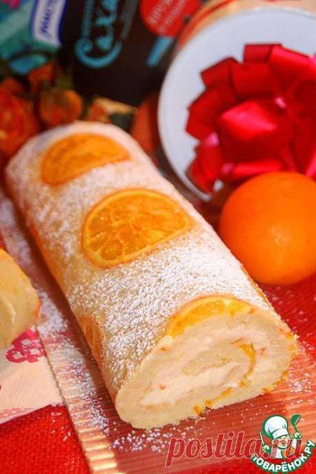 Бисквитный апельсиновый рулет. Автор: natapit