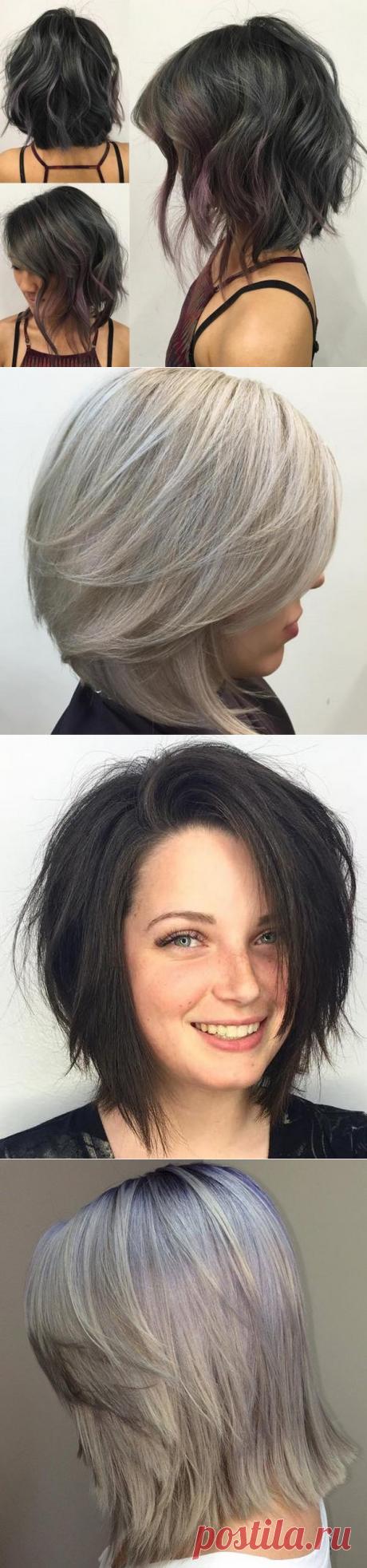 Модные женские стрижки боб на средние волосы 2017-2018 – фото новинки