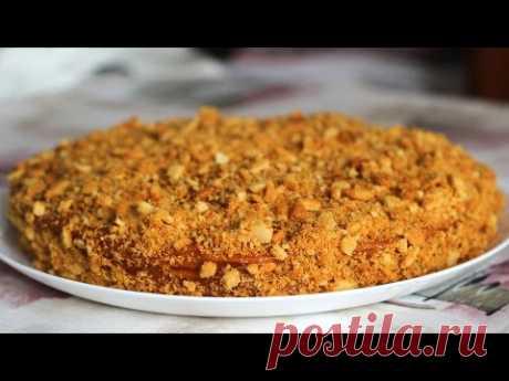 Fast cake - the recipe. How to prepare fast medovik - YouTube