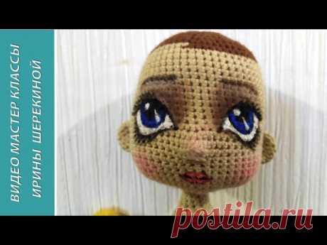 Рисуем глазки и губки. We draw eyes and lips. Amigurumi. Crochet. Вязать игрушки, амигуруми.