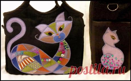 Интересные сумки с удивительными котами создаёт этот мастер своими руками!