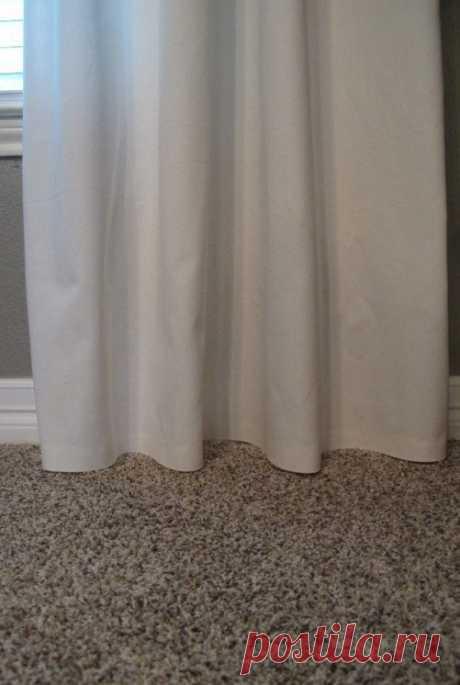 Как укоротить шторы, не обрезая их