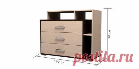 Купить комод Медея 3 ящ. (венге/дуб белфорт) в интернет-магазине HomeMe по цене 3 990 рублей в Москве