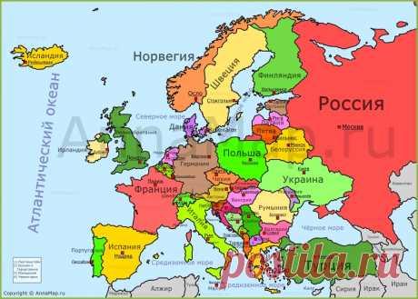 карта европы - Поиск в Google