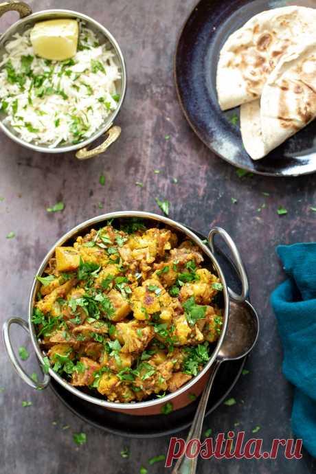Vegan Restaurant Style Aloo Gobi Recipe- Vegan Richa Vegan Aloo Gobi is a healthy spin on the popular restaurant-style Indian potato and cauliflower curry we love