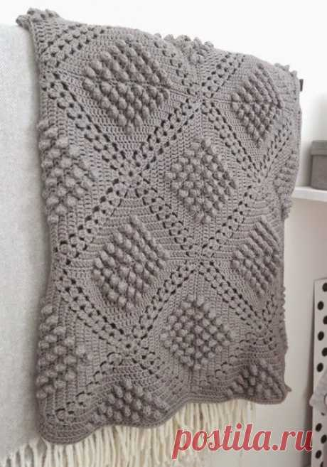 Idea for a knitted plaid