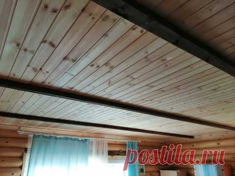 Современные и экологичные решения для деревянного дома: обшиваем потолок | Даня на даче: строю и показываю! | Яндекс Дзен