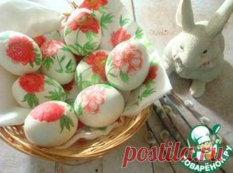 Яйца в стиле декупаж - кулинарный рецепт