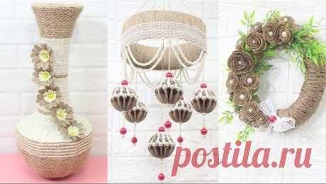 5 Jute craft ideas | Home decorating ideas handmade | Diy BigBoom