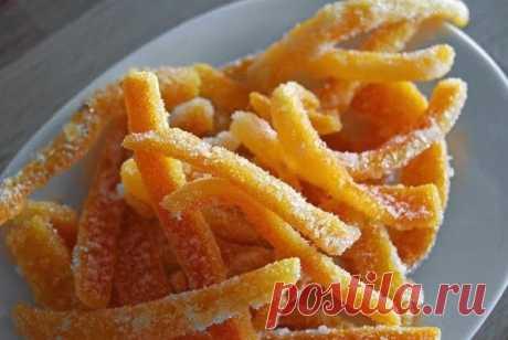 Лучшие кулинарные рецепты: Апельсиновые цукаты
