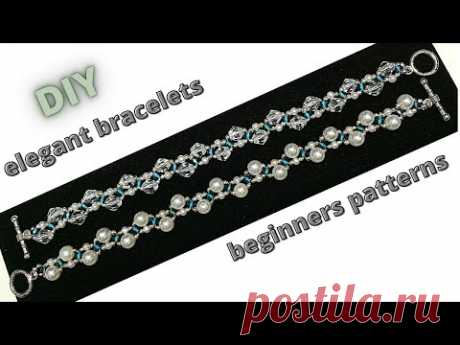 Beginners beading tutorial. How to make elegant bracelets. Beads Bracelets