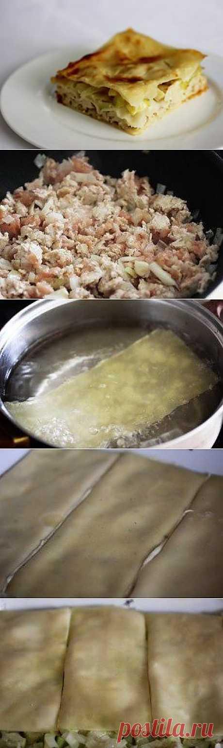 """Лазанья c курицей и кабачками под соусом """"Бешамель"""""""