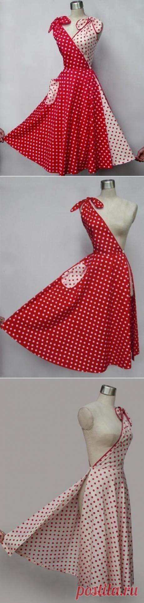 Как смоделировать винтажное платье