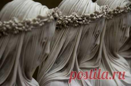 Как итальянским мастерам удавалось создавать из мрамора тончайшие вуали?  Искусство итальянских скульпторов. «Неаполь по-славянски» https://napoli1.com/publ/10-1-0-1125  #Италия #Неаполь
